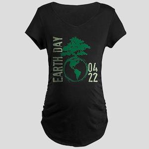 Earth Day 2012 Maternity Dark T-Shirt