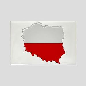"""Pixel Poland"" Rectangle Magnet"