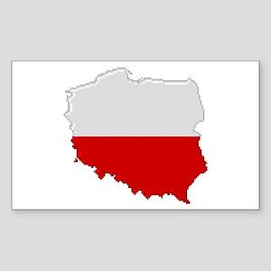 """Pixel Poland"" Rectangle Sticker"