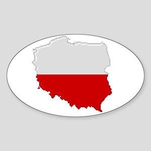 """Pixel Poland"" Oval Sticker"