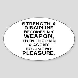 My Weapon Sticker (Oval)