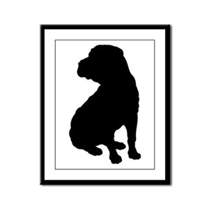 Christmas or Holiday Shar Pei Silhouette Framed Pa