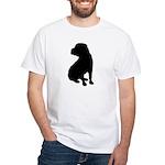 Shar Pei Silhouette White T-Shirt