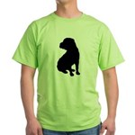 Christmas or Holiday Shar Pei Silhouette Green T-S