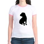 Shar Pei Silhouette Jr. Ringer T-Shirt
