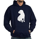 Christmas or Holiday Shar Pei Silhouette Hoodie (d
