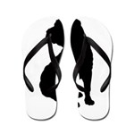 Christmas or Holiday Shar Pei Silhouette Flip Flop