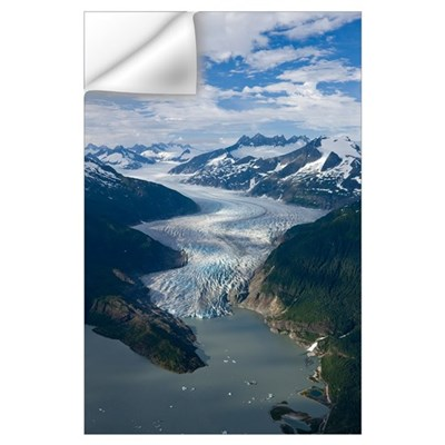 Aerial view of Mendenhall Glacier, Juneau Icefield Wall Decal