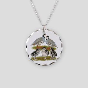 Chukar Family Necklace Circle Charm