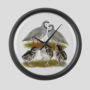 Chukar Family Large Wall Clock