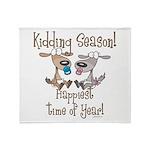 Goat Kidding Season Throw Blanket