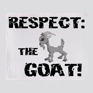 RESPECT the GOAT for Men Throw Blanket
