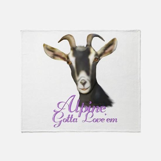 Alpine love'em Throw Blanket