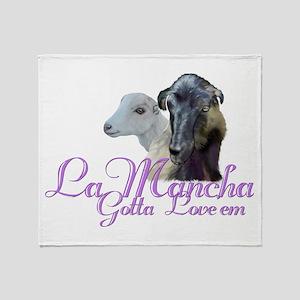 LaMancha Goat Gotta Love'em Throw Blanket