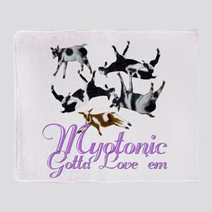 Myotnic Goat Love'em Throw Blanket