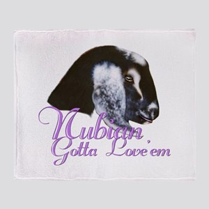 Nubian Goat Gotta Love em Throw Blanket