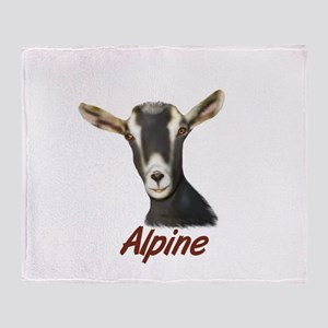 Alpine Goat Portrait Annabell Throw Blanket