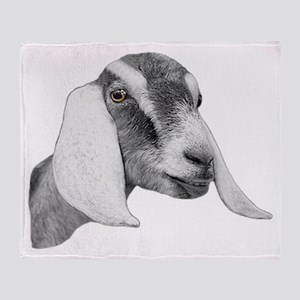 Nubian Goat Sketch Throw Blanket