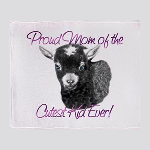 Goat Cutest Kid Ever Throw Blanket