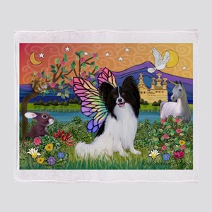 Papillon Butterfly in Fantasy Throw Blanket