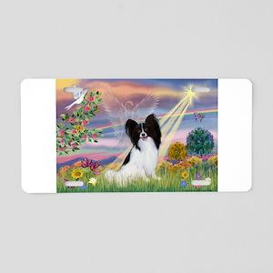 Cloud Angel & Papillon Aluminum License Plate