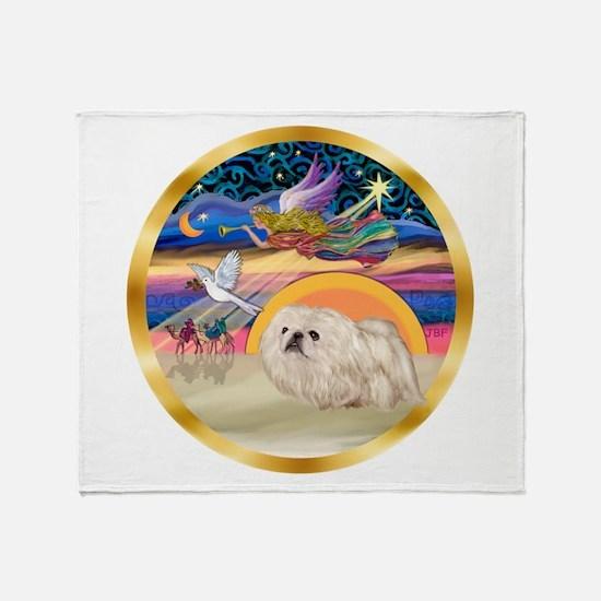 XmasStar/Pekingese (w) Throw Blanket