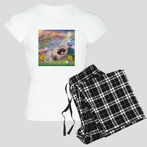 Cloud Angel & Pekingese Women's Light Pajamas