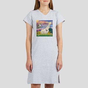 Cloud Angel/Pekingese (w) Women's Nightshirt