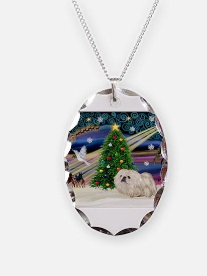 XmasMagic/ Pekingese (w) Necklace