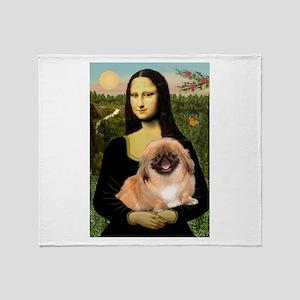 Mona's first Peke Throw Blanket