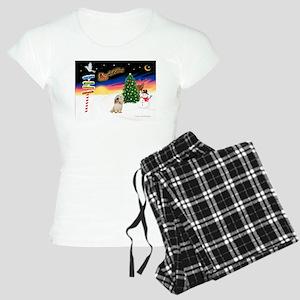 XmasSigns/PBGV #2 Women's Light Pajamas