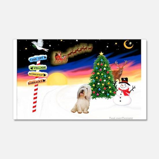 XmasSigns/PBGV #2 22x14 Wall Peel