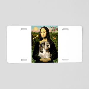 Mona & Her PBGV Aluminum License Plate