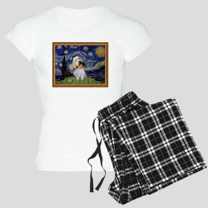 Starry Night PBGV Women's Light Pajamas