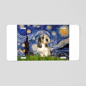 Starry Night PBGV (#4) Aluminum License Plate