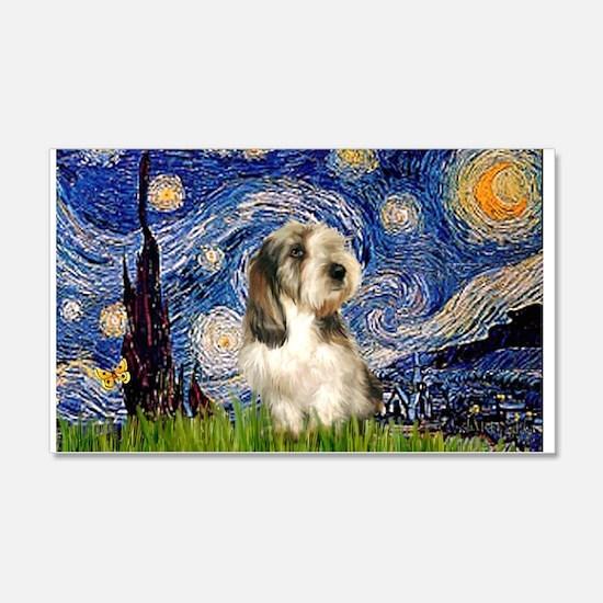 Starry Night PBGV (#4) 22x14 Wall Peel