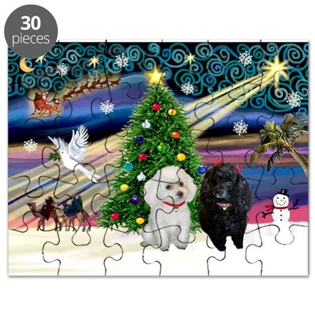 Xmas Magic/2 Poodles Puzzle