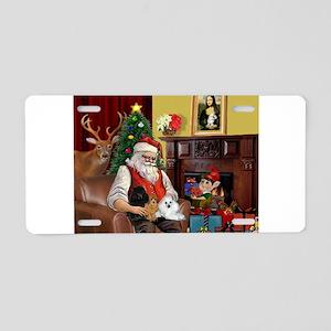 Santa's Poodle Trio Aluminum License Plate