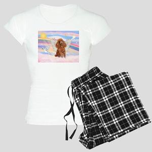 Angel/Poodle (apricot Toy/Min Women's Light Pajama