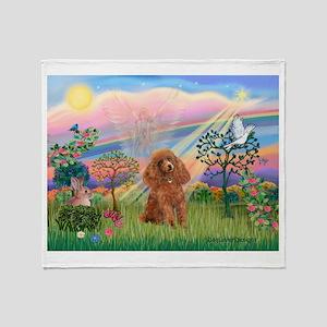 Cloud Angel/ Poodle (Apricot) Throw Blanket