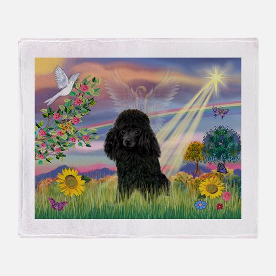 Cloud Angel & Poodle (#2) Throw Blanket