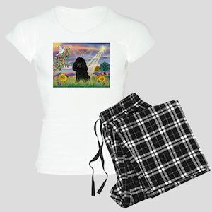 Cloud Angel & Poodle (#2) Women's Light Pajama