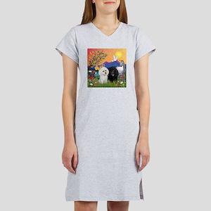 Fantasy Land & 2 Poodles Women's Nightshirt