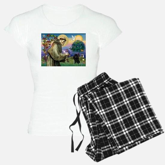 St. Francis & Black Poodle #2 Pajamas