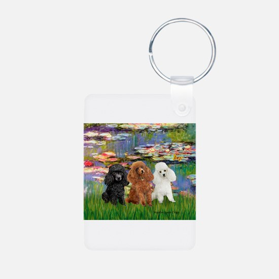 Lilies #2/3 Poodles Keychains