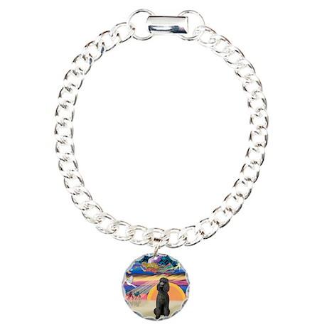 XmasStar/Poodle Std Charm Bracelet, One Charm
