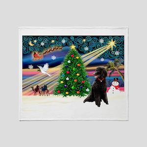 XmasStar/Poodle (ST-B) Throw Blanket