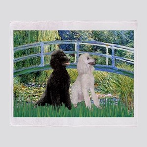 Bridge & Poodle Pair #2 Throw Blanket