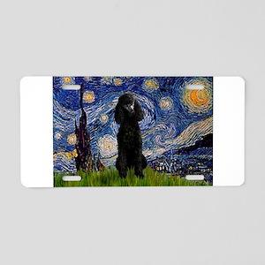 Starry Night Black Poodle (ST Aluminum License Pla