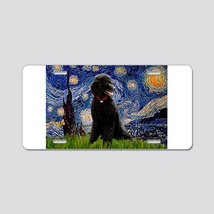 Starry Night Black Poodle (ST Aluminum License Pla